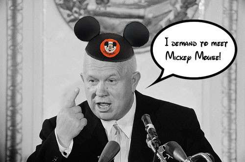 Khrushchev and Mickeymouse
