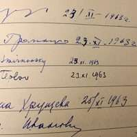 JFK Khrushchev signature in condolence book