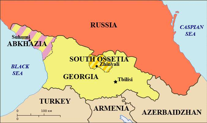 Georgia A Place Of Ethnic Unrest And Civil Strife Association - Abkhazia map black sea