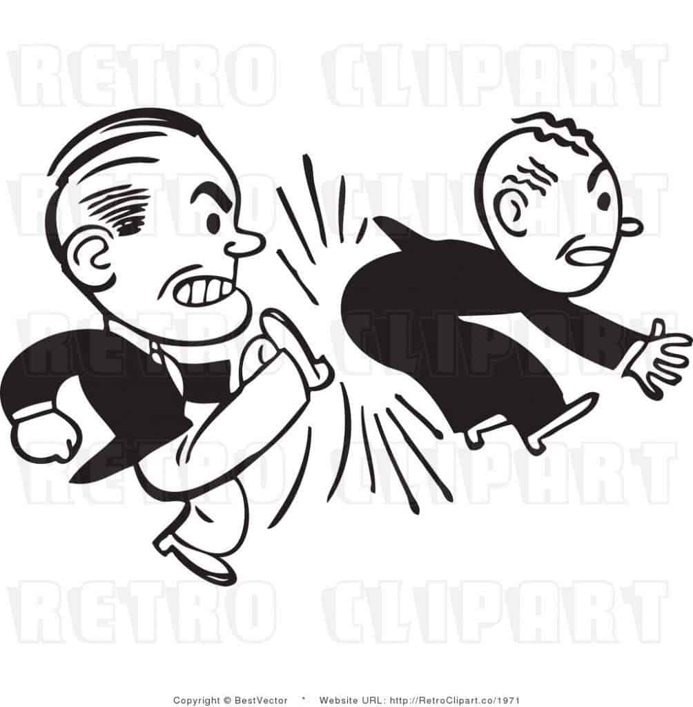 state royalty-free-black-and-white-retro-vector-clip-art-of-a-man-kicking-an-employee-by-bestvector-1971