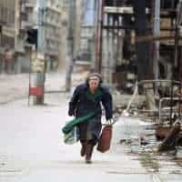 Bosnian War, Elderly Woman Refugee