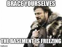 freezing basement