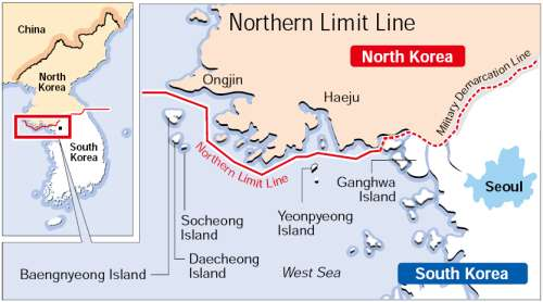 North Korea And US Violation Of International Waters - Us government map nll