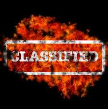 burning classified
