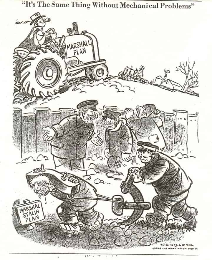 Marshall Plan Stalin cartoon