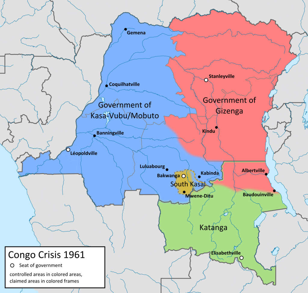 map of the congo