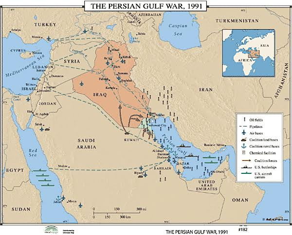 The 1991 iraq war the battle at the un association for iraq map sciox Image collections