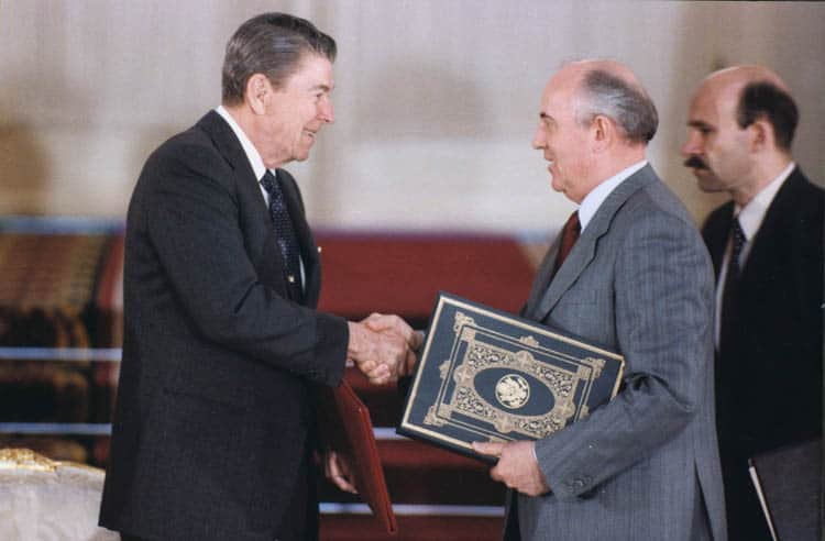 President Reagan and Gorbachev - INF Treaty