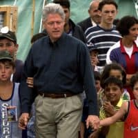 Bill Clinton at Refugee Camp in Macedonia