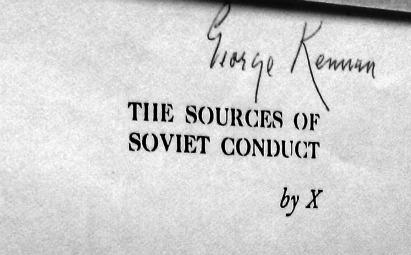 sources of soviet conduct, by x