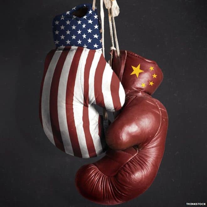 US-China boxing gloves