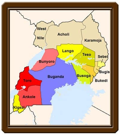 uganda kingdoms map