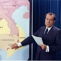 nixon announces troops into CAmbodia