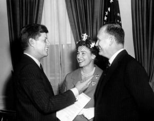 Dillon with JFK