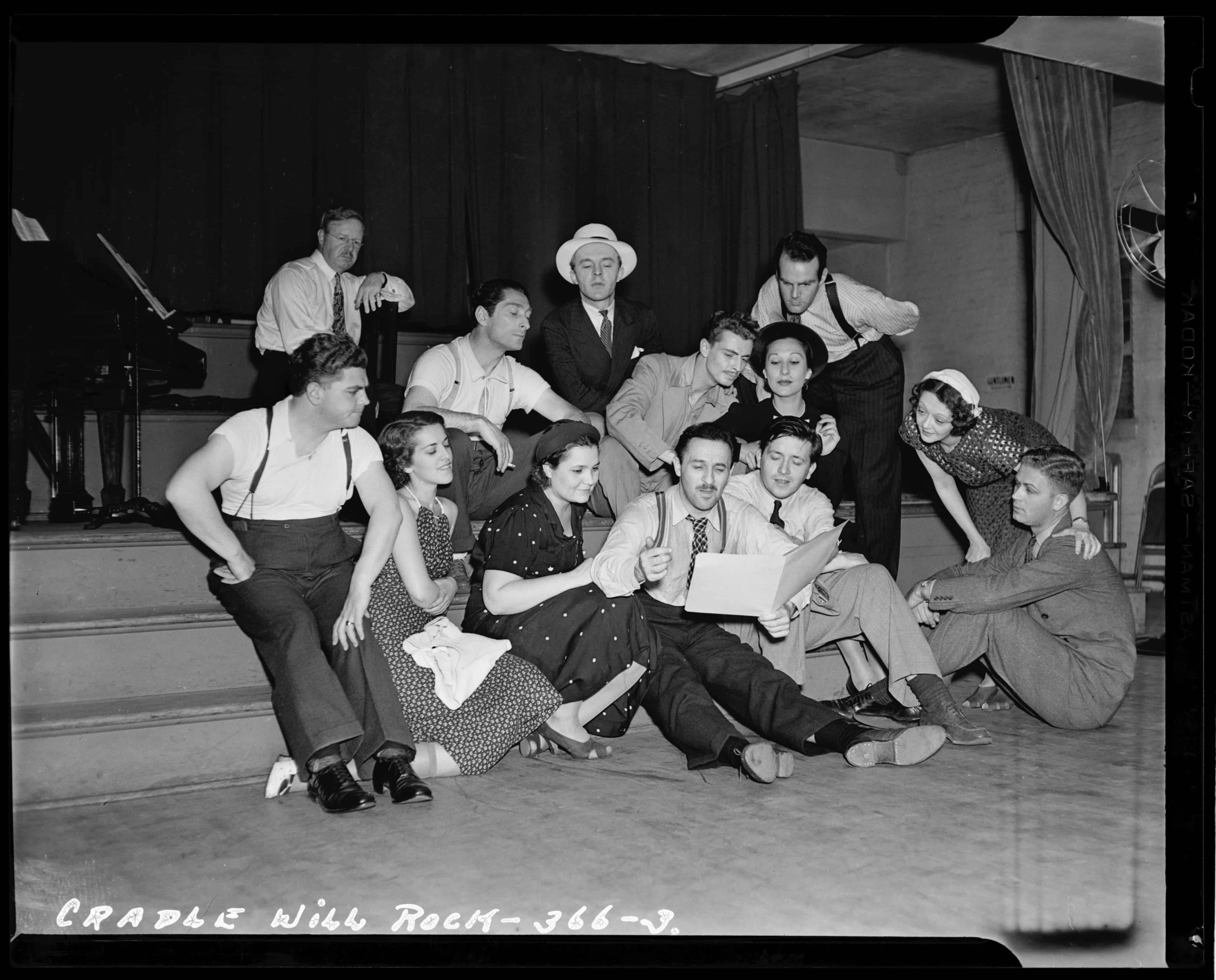 """Cast of """"The Cradle Will Rock"""" (1937) Unknown   Library of Congress"""