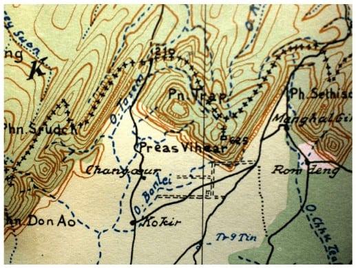 Annex map of Preah Vihear  ICJ  (1962)