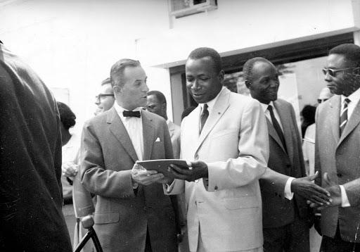 Ambassador James W. Wine Talks with President Félix Houphouët-Boigny of the Ivory Coast (1962) James Wine Ambassadorial Files   JFK Presidential Library