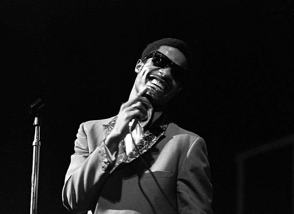 Stevie Wonder, Apollo Theater circa 1970. Taken by Winston Vargas. Source: Flickr.