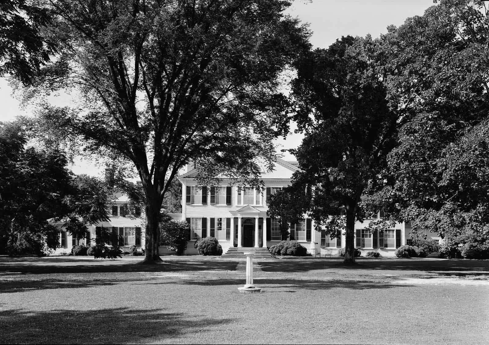 Front View of Wye House, American Plantation (post 1933) Historic American Buildings Survey   Wikimedia