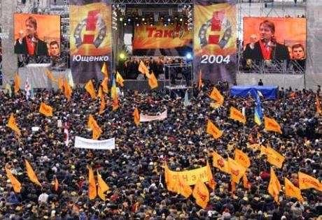 Ukraine supporters for Yushchenko, 2004, Libcom