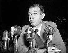 Hiss testifying (1948) American statesman accused of espionage, staff photographer, New York World-Telegram & Sun Collection | Library of Congress, Wikipedia