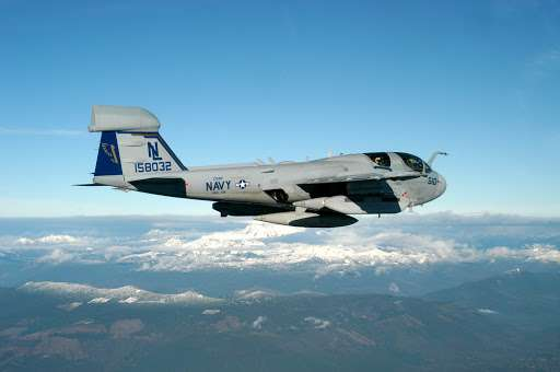 A EA-6B Prowler aircraft, the type of aircraft involved in the incident