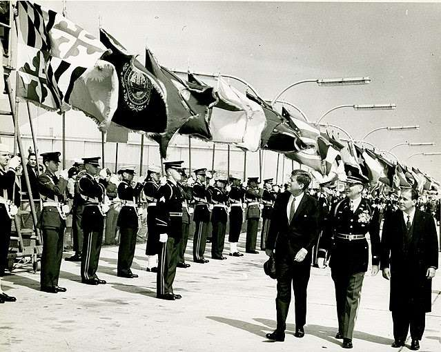 Kennedy and Goulart review troops 1962 | Wikimedia