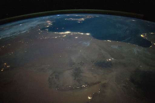 North Africa from space at night (2017) Stuart Rankin | Wikimedia Commons
