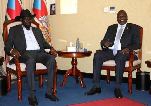 South Sudan's President Salva Kiir and Vice President Riek Machar (2020) Jok Solomun | Reuters